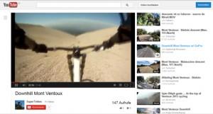 Eines von zahlreichen YouTube-Videos zeigt vierzehn rasante Minuten Downhill-Ventoux. Veröffentlicht von SuperTinkes; www.youtube.com/watch?v=RphoLUVlRc0 [12.11.2013]. Zum Vergrößern auf das Bild klicken